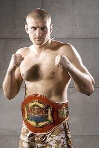 Ян Блахович с поясом чемпиона