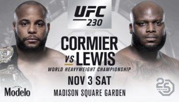 UFC 230 — дата, участники, прямая трансляция боев