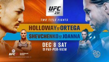 UFC 231 Holloway vs Ortega — основной кард, прямая трансляция